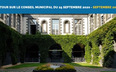 Nos interventions au Conseil Municipal du 25/09/2020