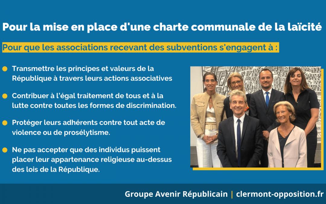 Pour la mise en place d'une charte communale de Laïcité à Clermont-Ferrand