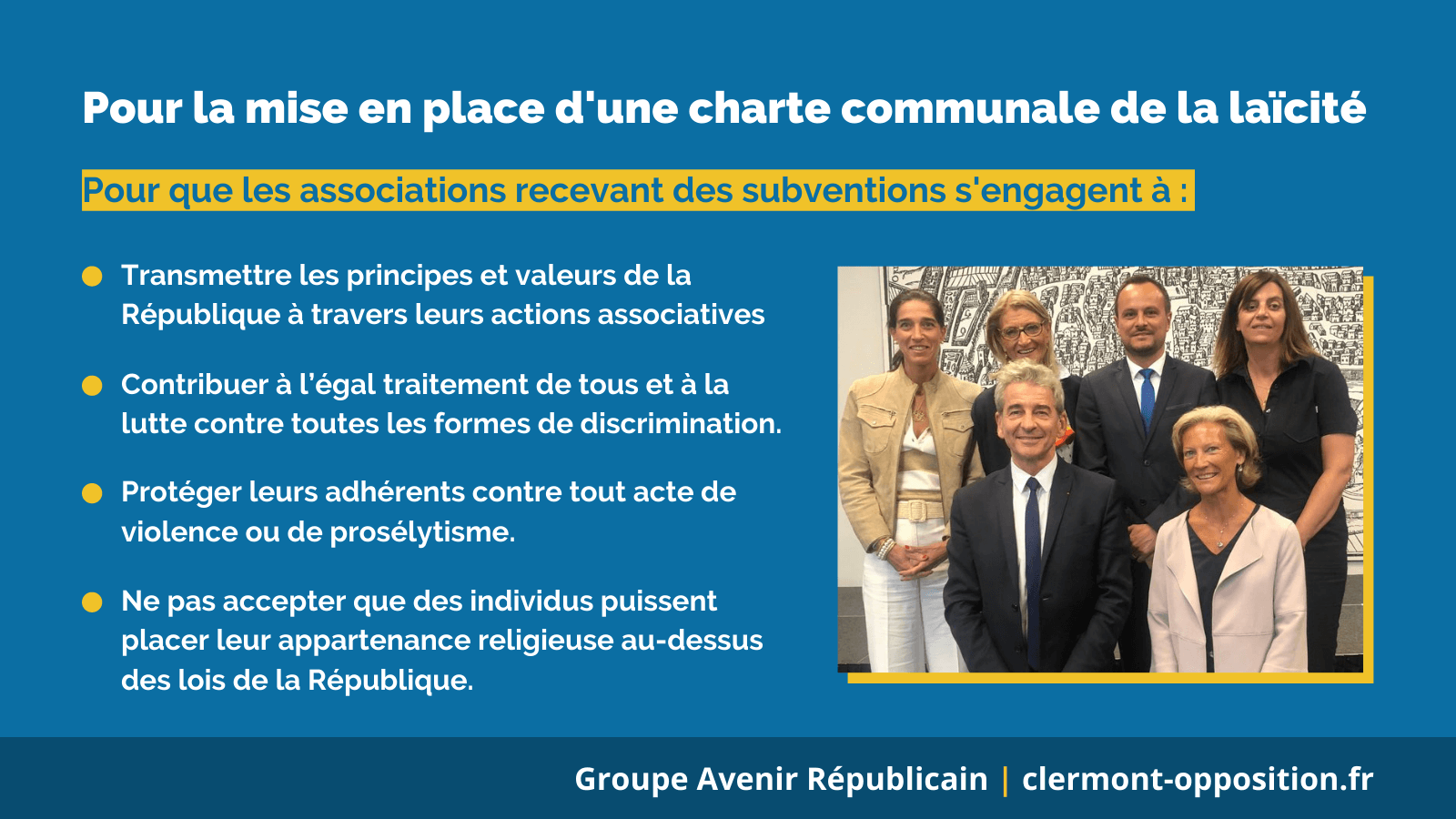 Pour une charte communale de laïcité à Clermont-Ferrand