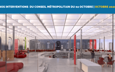 Nos interventions au Conseil Métropolitain du 02 Octobre (Saint-Jacques, Bibliothèque métropolitaine et 5G)