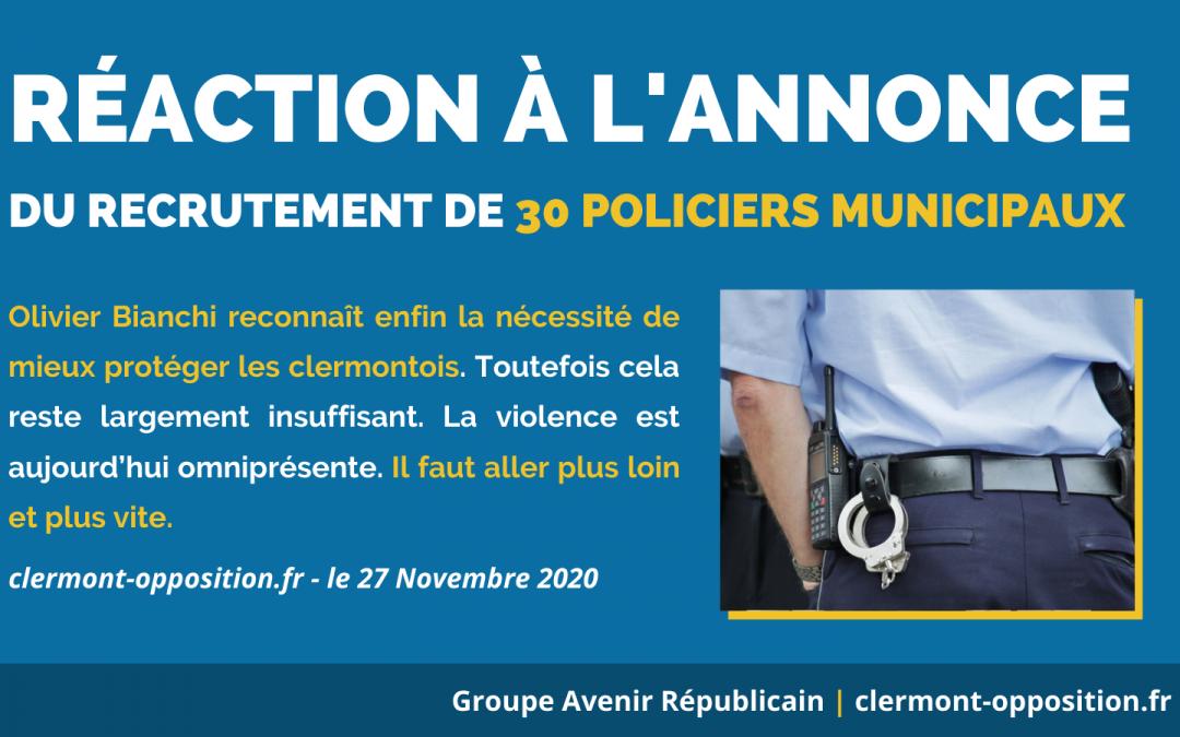 Police municipale : le maire de Clermont-Ferrand reprend en partie les propositions de l'opposition