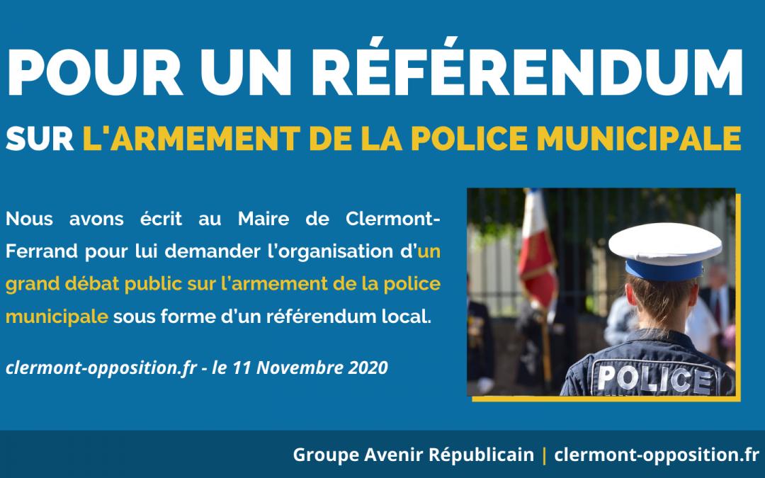 Pour un référendum au sujet de l'armement de la police municipale