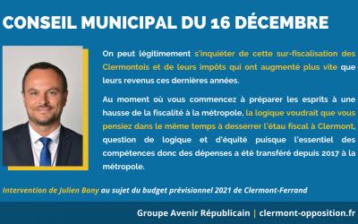 Le budget primitif 2021 de la majorité ne permettra pas de répondre aux prochains enjeux de Clermont-Ferrand