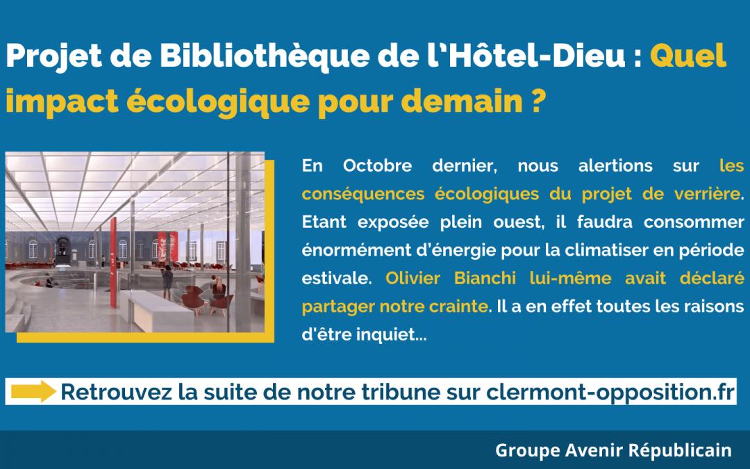 Bibliothèque de l'Hôtel-Dieu : Quel impact écologique pour demain ?