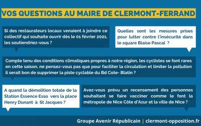 Vos questions au maire de Clermont-Ferrand