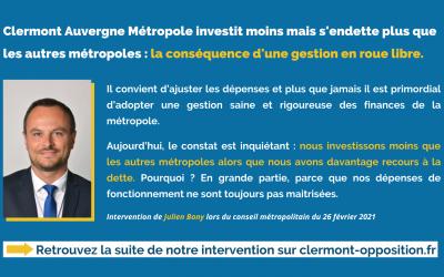 Clermont Auvergne Métropole investit moins mais s'endette plus que les autres métropoles : la conséquence d'une gestion en roue libre.