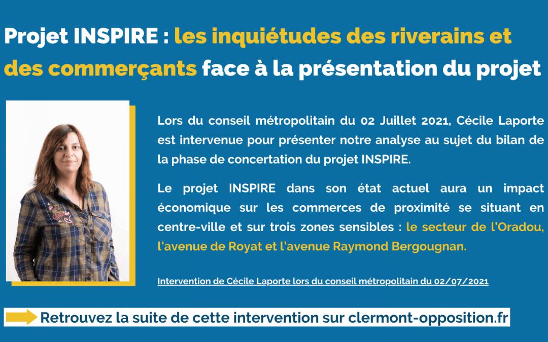 Projet INSPIRE : les inquiétudes des riverains et commerçants face à la présentation du projet